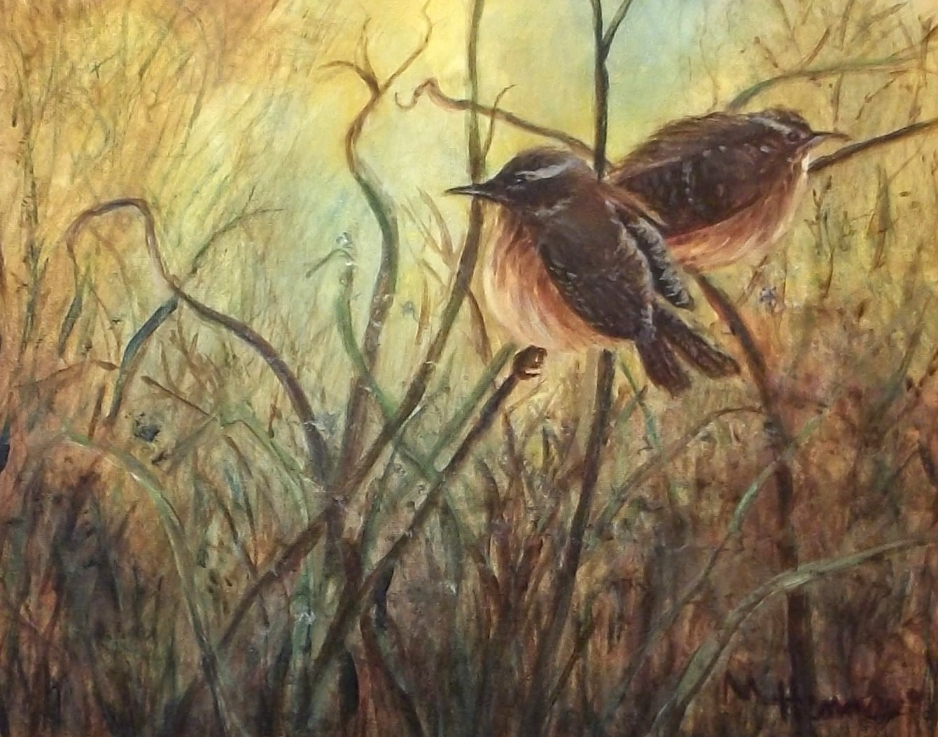Birds of a Feather - Acrylic/Oil painting class at Henne's Drafting & Art Supply