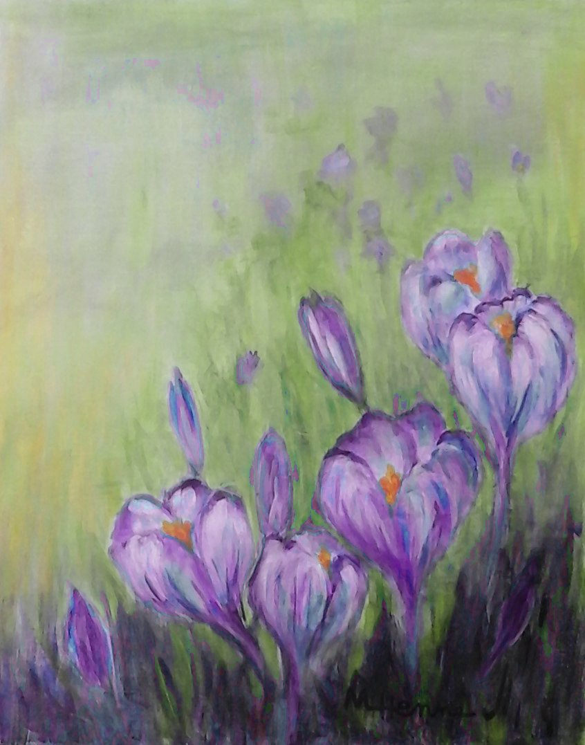 Crocuses - Henne's Spirited Painting Party