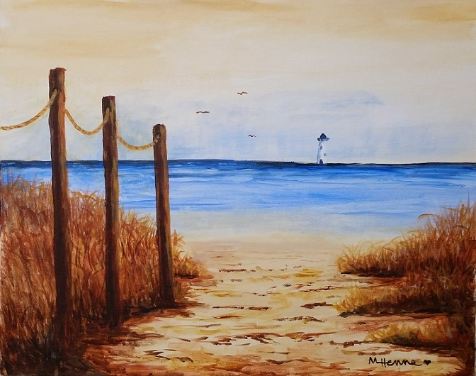 Beach Path - Henne's Afternoon & Spirited Painting Parties