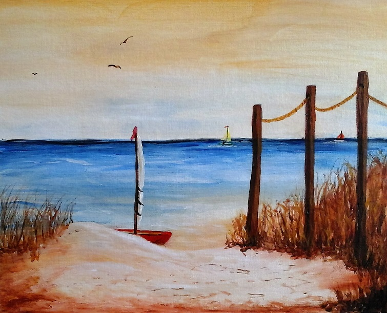 Beached - Henne's Afternoon & Spirited Painting Parties