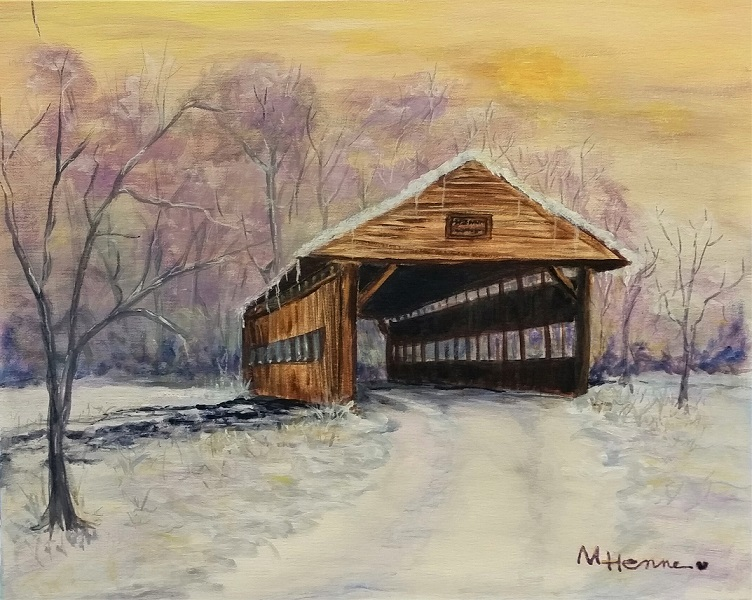 Bridge to Grandma's House - Henne's Drafting & Art Supply's Afternoon Painting Party