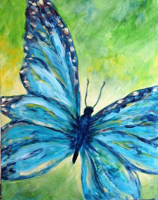 Butterfly - Henne's Drafting & Art Supply's Spirited Painting Parties & Afternoon Painting Parties