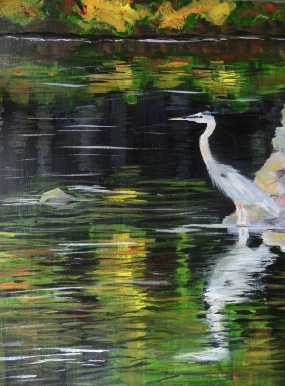 Fall Lake - Henne's Spirited Painting Parties