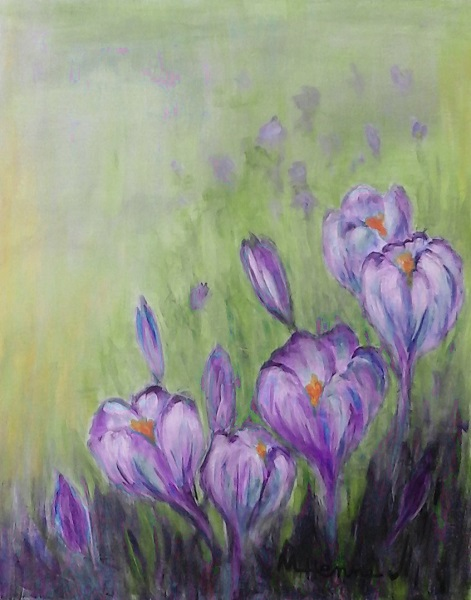 Crocuses - Henne's Drafting & Art Supply's Afternoon Painting Party