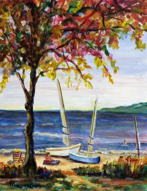 Day at the Beach - Acrylic Painting with Mary Lou