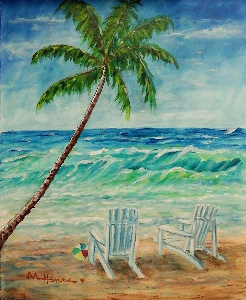 Fryman's Beach - Henne's Drafting & Art Supply's Spirited Painting Parties