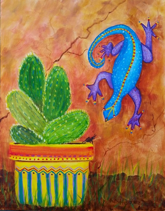 Gecko - Henne's Afternoon Painting Party