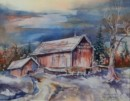 Ohio Barn #4 - Watercolor painting by Mary Haley-Rocks