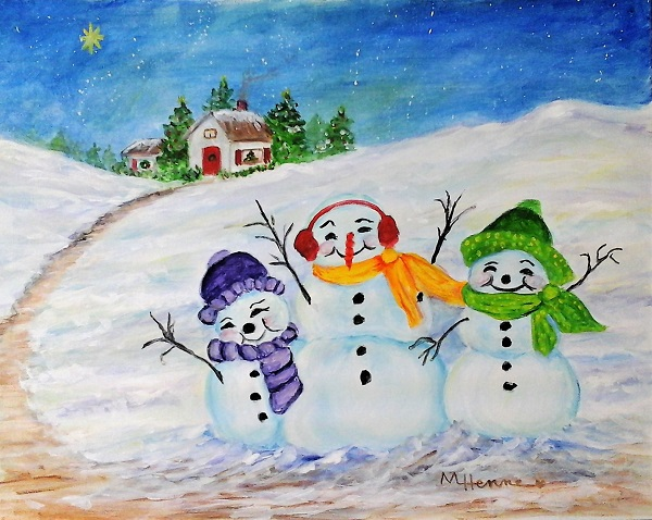 Holiday Greetings - Henne's Drafting & Art Supply's Spirited Painting Parties