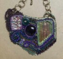 Beaded Pendant with Chain - Jewelry by Carolyn Kelly