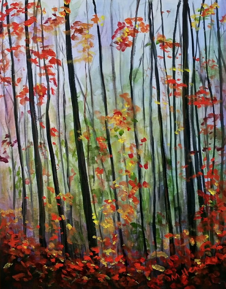 Last Days of Autumn - Henne's Spirited Painting Party