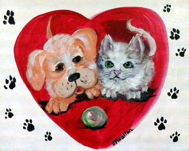 Pets Fill Your Heart - Henne's Spirited Painting Parties