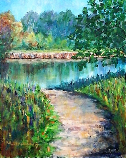 Peaceful Reflections - Painting with Mary Lou Acrylic Class