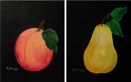 Peach & Pear - Henne's Spirited Painting Parties