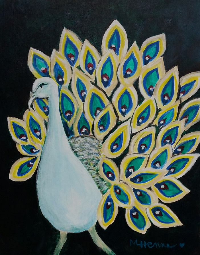 Peacock - Henne's Spirited & Afternoon Painting Parties