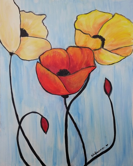 Poppies - Henne's Spirited and Afternoon Painting Parties