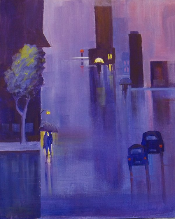 Rainy Night in the City - Henne's Spirited Painting Parties