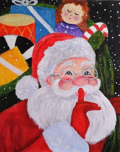 Santa Secret - Henne's Afternoon & Spirited Painting Parties
