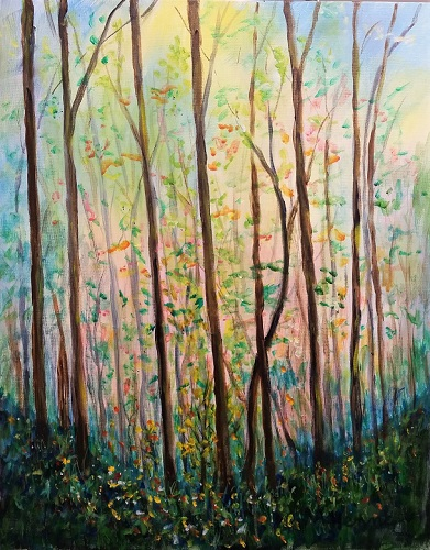 Spring in the Forest - Henne's Drafting & Art Supply Spirited Painting and Afternoon Painting Parties