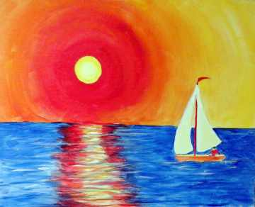 Sunset Sail - Henne's Spirited Painting Parties