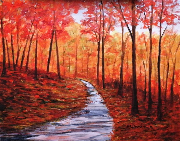 The Colors of Fall - Henne's Drafting & Art Supply's Afternoon Painting Parties & Spirited Painting Parties