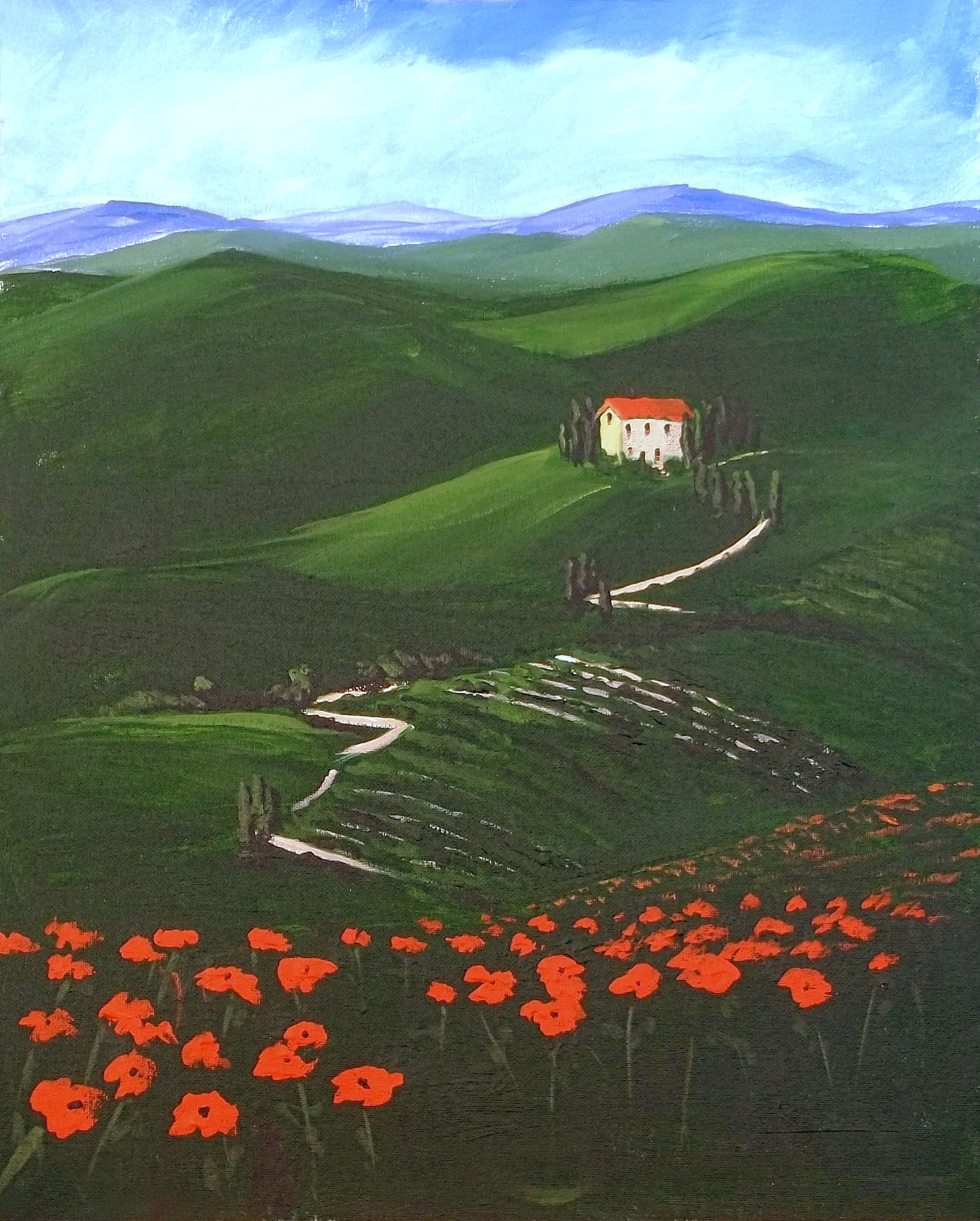 Tuscan Landscape - Henne's Spirited Painting Parties