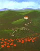 Tuscan Landscape - Spirited Paintng