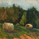 Summer Bales - Oil painting by Judy Fisher Walton