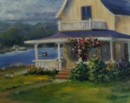 Vineyard Cottage - Oil painting by Judy Fisher Walton