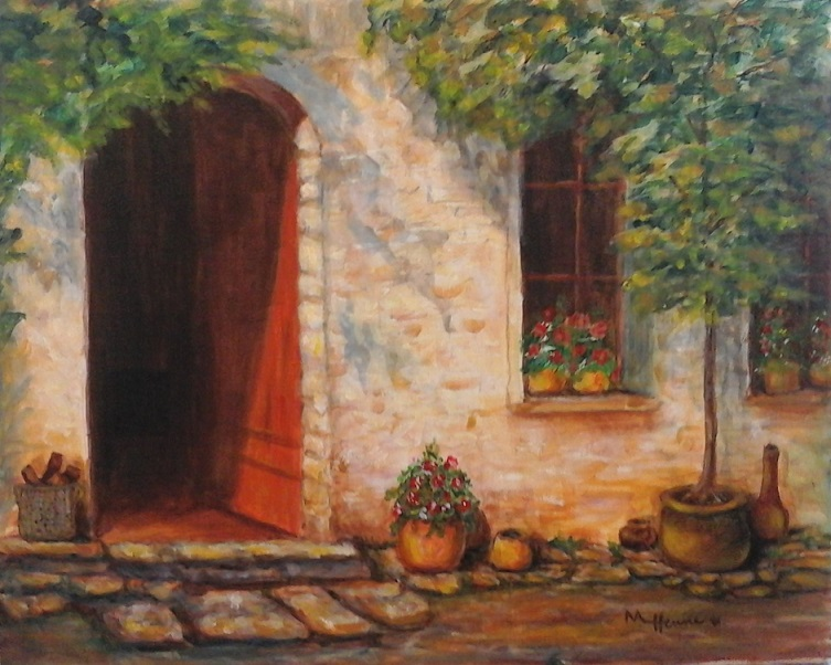 Welcome Home - Paint with Mary Lou - Acrylic painting class