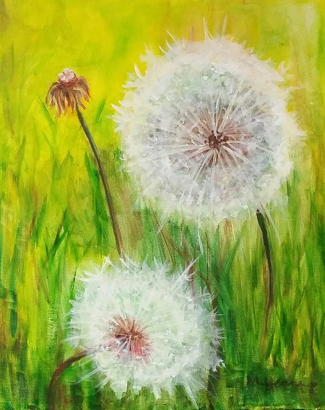 Dandelions - Henne's Drafting & Art Supply Inc - Affternoon Painting Parties