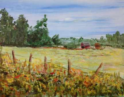 Field of Flowers - Painting with Mary Lou