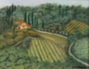 Tuscan Countryside - Pastel painting by Joan Garverick