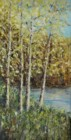 Spring Trees - Oil palette knife painting by Mary Lou Henne