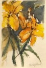 Tiger Lily - Gouache painting by Jane Johnson