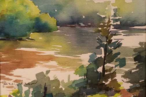 Mifflin Lake - Watercolor painting by Jane Johnson