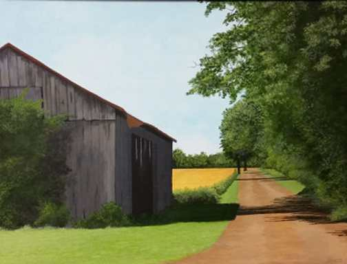 Kentucky Road - Acrylic painting by Dale Lewis