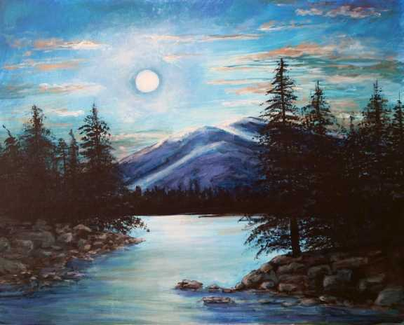 Moon River - Paintng with Mary Lou