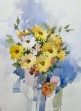 Flower painting demo by Robert Moyer