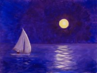 Moonlight Sail - Henne's Spirited Painting