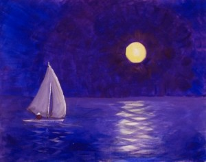 Midnight Sail - Henne's Spirited Painting Parties