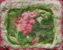 Sweet Pea Art Quilt - Textile art by Pam Reed