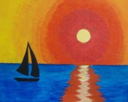 Sunset Sail - Spirited Painting