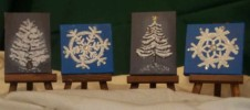 Minature Holiday Canvases - Acrylic paintings by Betty Talyor