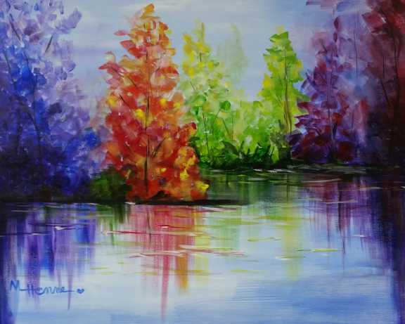Vibrant Reflections - Henne's Spirited Painting Parties