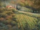 Italian Villa - Pastel Painting by Sharon Weaver